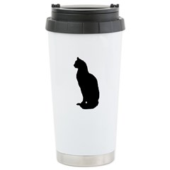Cat Silhouette Ceramic Travel Mug