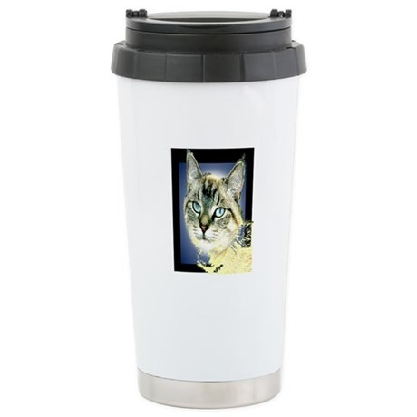 Blue Eyed Kitten Ceramic Travel Mug