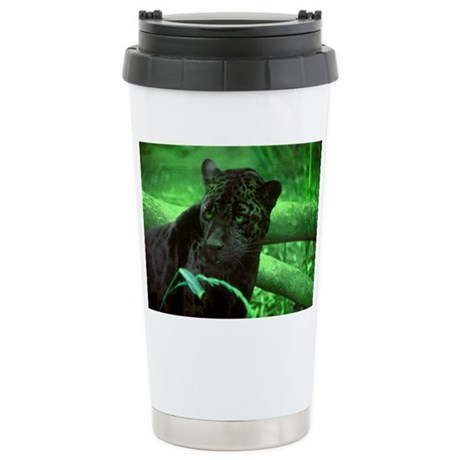 Black Jaguar Ceramic Travel Mug