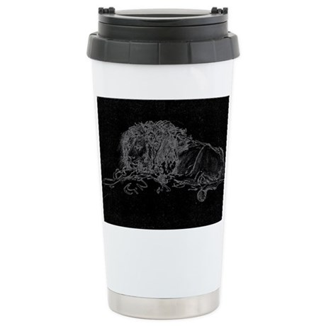 Lion Sketch Ceramic Travel Mug