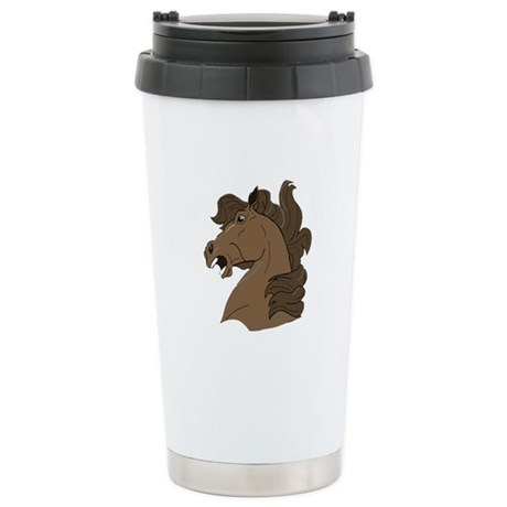 Brown Horse Ceramic Travel Mug