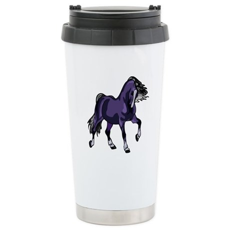 Fantasy Horse Purple Ceramic Travel Mug