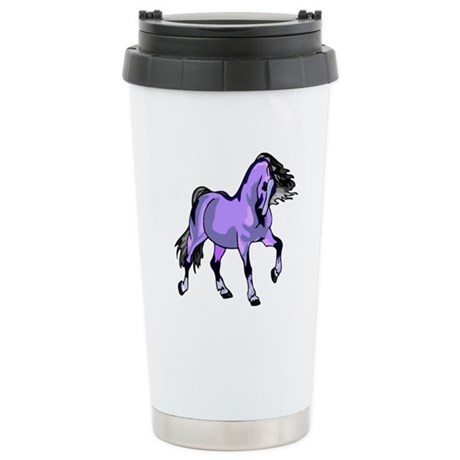 Fantasy Horse Lilac Ceramic Travel Mug
