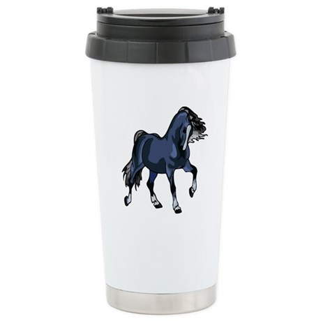 Fantasy Horse Blue Ceramic Travel Mug