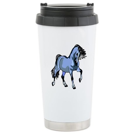 Fantasy Horse Light Blue Ceramic Travel Mug