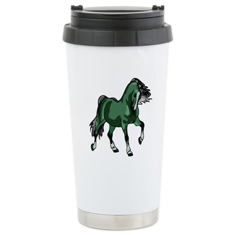 Fantasy Horse Green Ceramic Travel Mug