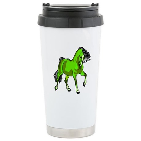 Fantasy Horse Lime Ceramic Travel Mug