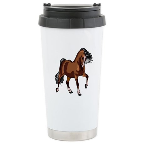 Spirited Horse Ceramic Travel Mug