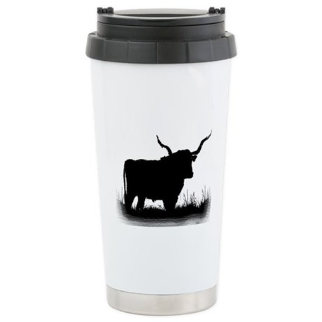 Longhorn Ceramic Travel Mug