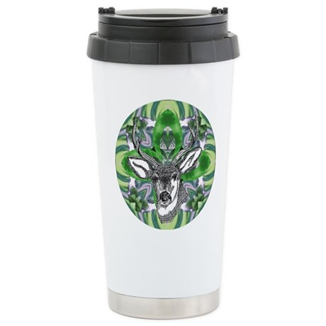 Kaliedoscope Deer Ceramic Travel Mug