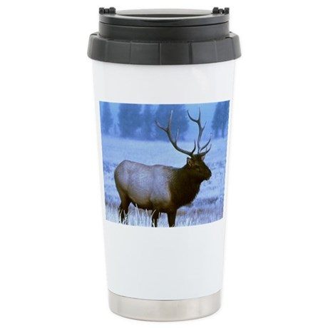 Bull Elk Ceramic Travel Mug