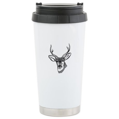 Whitetail Deer Ceramic Travel Mug