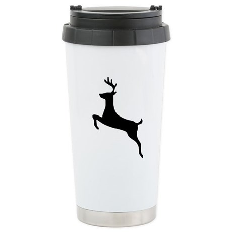 Leaping Deer Ceramic Travel Mug