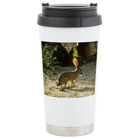 Texas Jackolope Ceramic Travel Mug