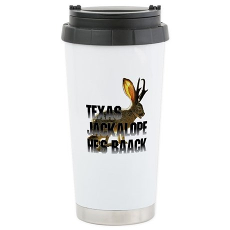 Texas Jackalope Ceramic Travel Mug