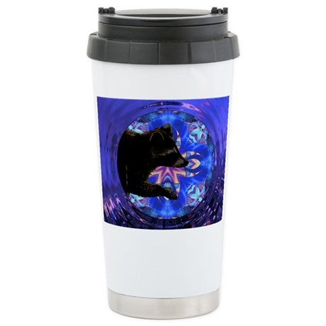 Racoon Kaleidoscope Ceramic Travel Mug