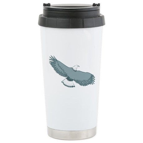 Bald Eagle Ceramic Travel Mug