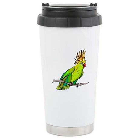 Cockatoo Ceramic Travel Mug