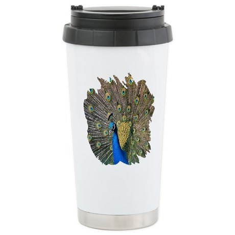 Peacock Ceramic Travel Mug