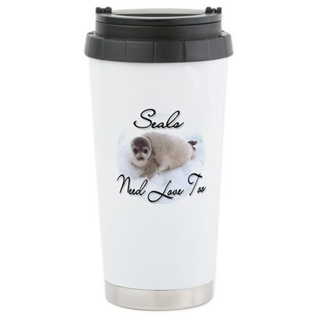 Seals Need Love Ceramic Travel Mug