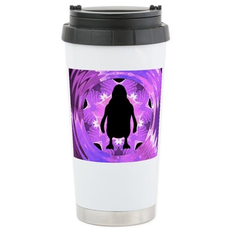 Kaleidoscope Penguin Ceramic Travel Mug