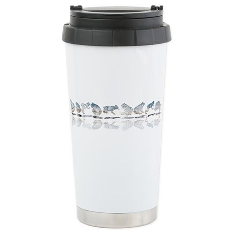 Frog Line Up Ceramic Travel Mug