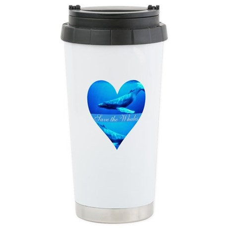 Save the Whales Ceramic Travel Mug