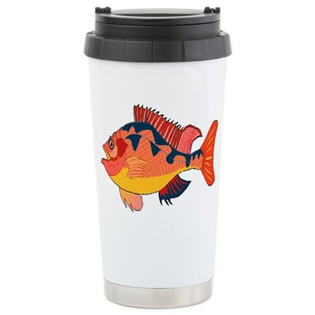 Colorful Fish Ceramic Travel Mug