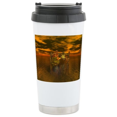 Golden Angel Ceramic Travel Mug
