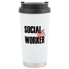 Off Duty Social Worker Ceramic Travel Mug