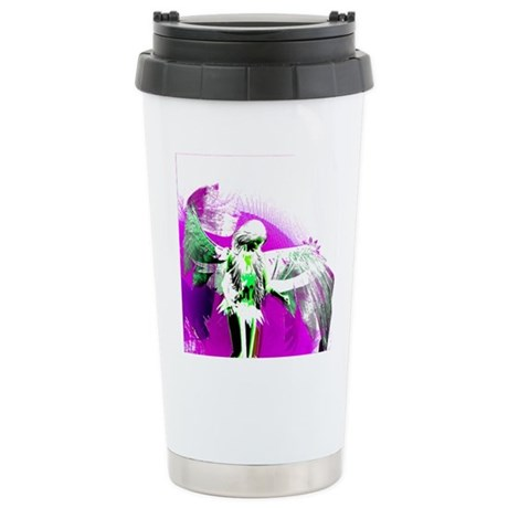 Purple Angel Art Ceramic Travel Mug