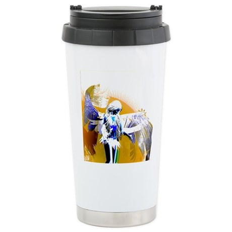 Golden Angel Art Ceramic Travel Mug