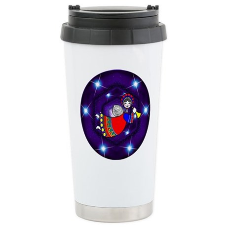 Christmas Angel Ceramic Travel Mug
