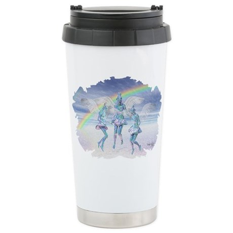 Angels and Rainbows Ceramic Travel Mug