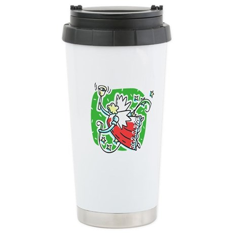 Whymsical Angel Ceramic Travel Mug