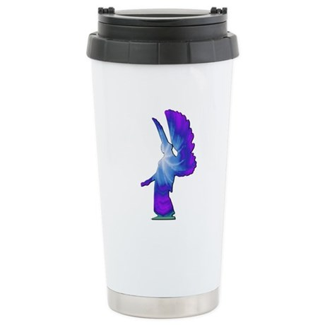 Blue Rainbow Angel Ceramic Travel Mug