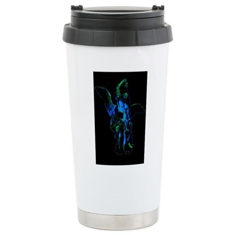 Powerful Angel - Blue Ceramic Travel Mug