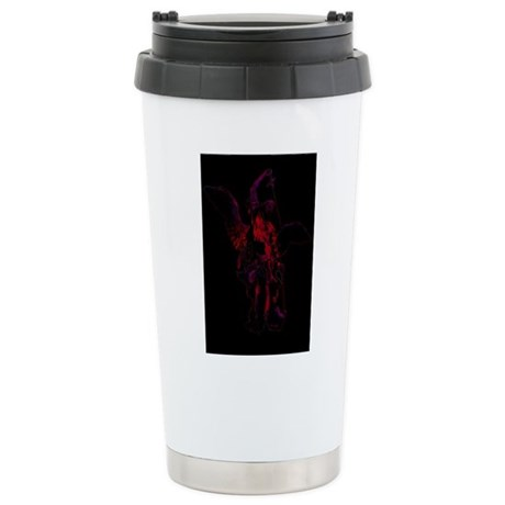 Powerful Angel - Red Ceramic Travel Mug