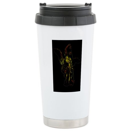 Powerful Angel - Gold Ceramic Travel Mug