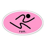 iRun2 Sticker (Pink Black)