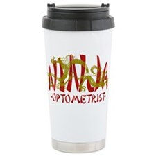 Dragon Ninja Optometrist Ceramic Travel Mug
