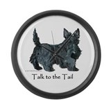Scottish Terrier Attitude Large Wall Clock