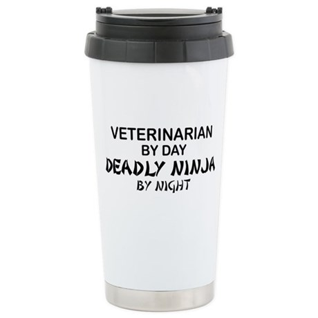 Veterinarian Deadly Ninja Ceramic Travel Mug