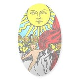 Sun Tarot Oval Decal