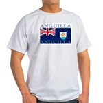 Anguilla Flag Ash Grey T-Shirt