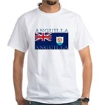 Anguilla Flag White T-Shirt