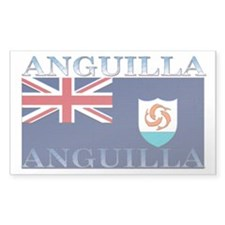 Anguilla Flag Rectangle Decal