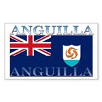 Anguilla Flag Rectangle Sticker