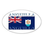 Anguilla Flag Oval Sticker
