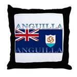 Anguilla Flag Throw Pillow
